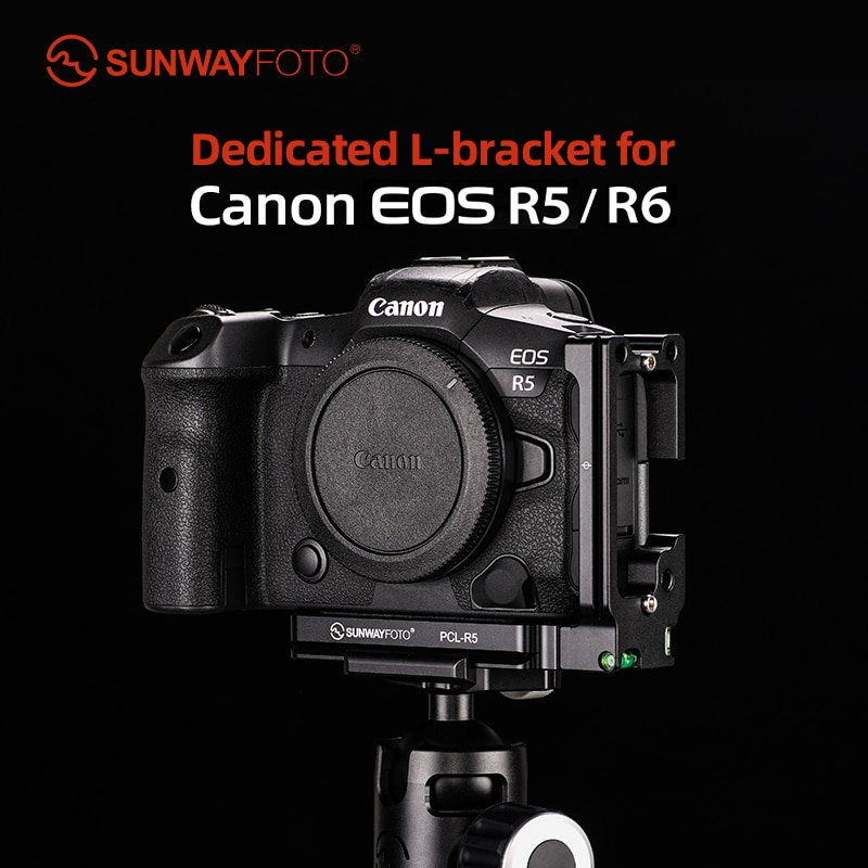 SUNWAYFOTO PCL-R5 L-قوس للكاميرا R5/R6 DSLR أركا/rrsS متوافق سريعة الإصدار بلايت
