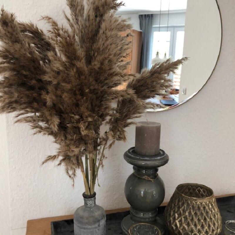 10/20 piezas pampas hierba decoración plantas hogar boda decoración flores secas ramo plumas flores naturales envío gratis