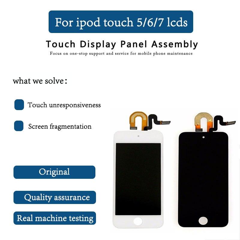 Original para iPod Touch 5 6 7th LCD pantalla MONTAJE DE digitalizador con pantalla táctil para iPod Touch 5 Gen Gener herramienta de reparación gratis