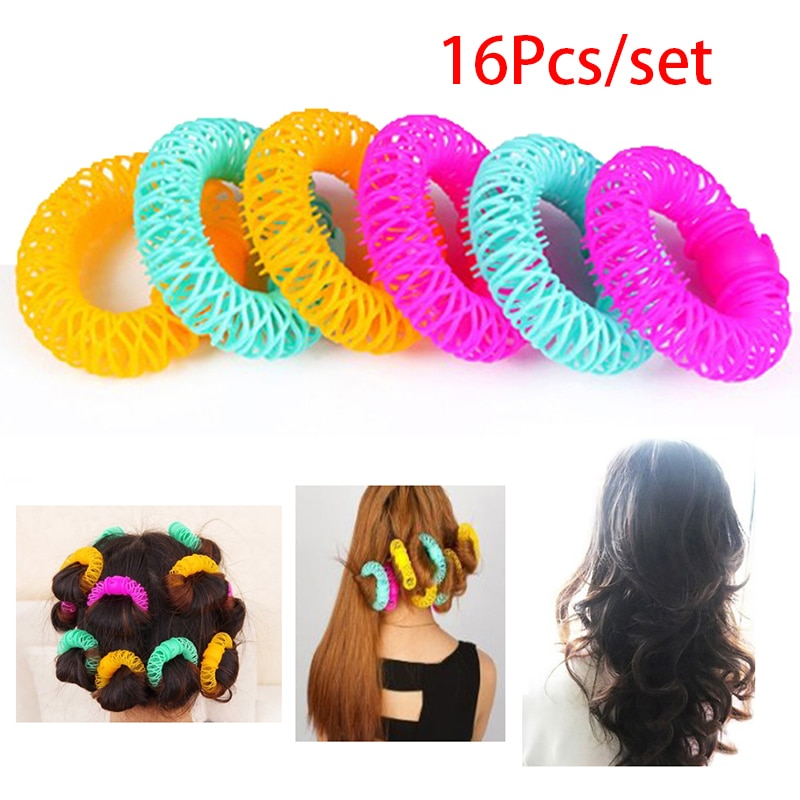 16Pcs Donuts Curl Hair Styling Tool Magic Hair Curler Spiral Curls Roller DIY Hair Styling Tools