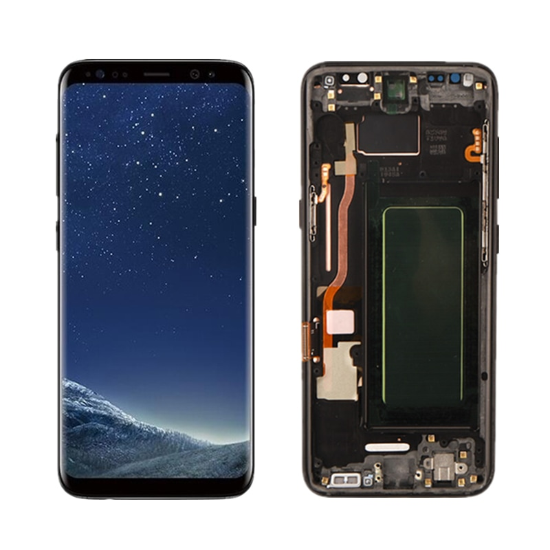 Super Amole For Samsung Galaxy S8 S8+ S8 Plus SM G950F G955F G950FN G955FN DS LCD Display With Touch Screen Digitizer Assembly enlarge