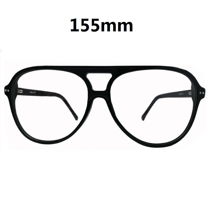 Vazrobe 155mm surdimensionné lunettes cadre hommes femmes Aviation large visage acétate lunettes homme clair lentille tortue noir