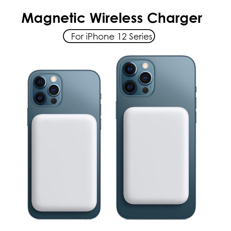 Портативное зарядное устройство 1:1 с магнитным портом, беспроводное портативное зарядное устройство, внешняя батарея для iphone12 13 Pro, портати...