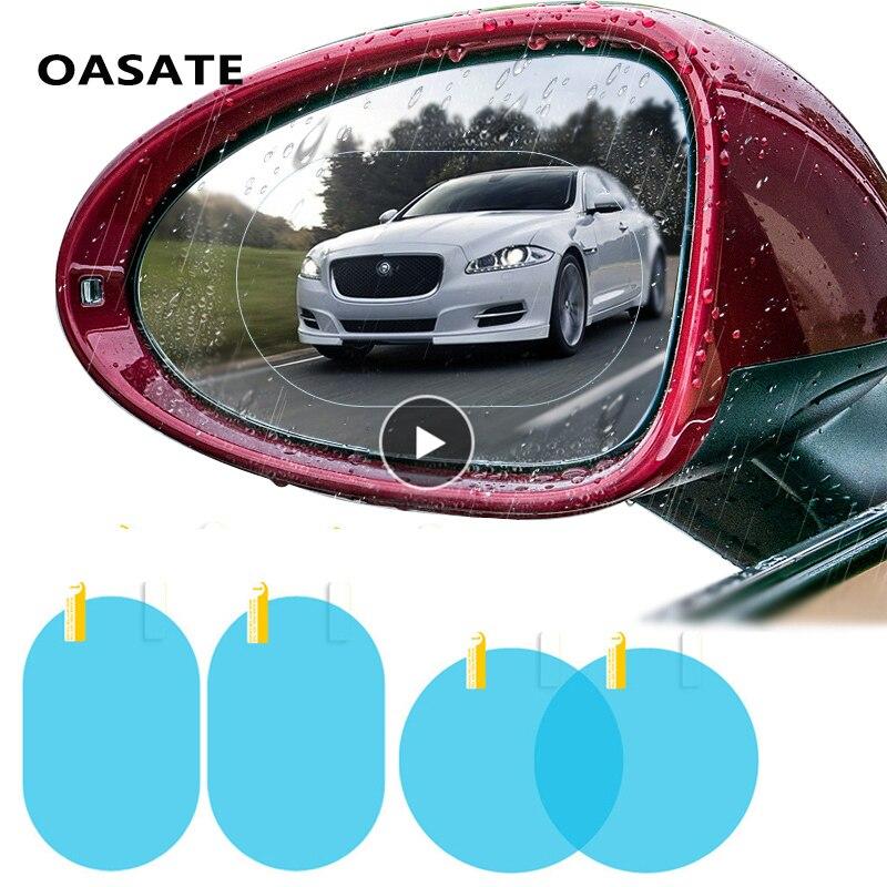 Car Rain Film Rearview Mirror Protective Film Anti Fog Membrane Anti-glare Waterproof Rainproof Car Mirror Window Clear Safer diy protective 3 layer polyurethane membrane film for car auto lamp yellow 100 x 40cm