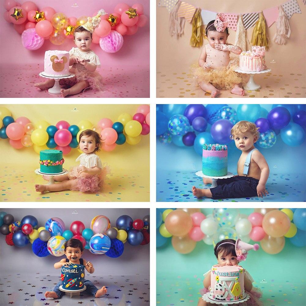 Mehofond fotografia fundo cor sólida recém-nascido criança retrato festa de aniversário polka dot photophone background photo studio