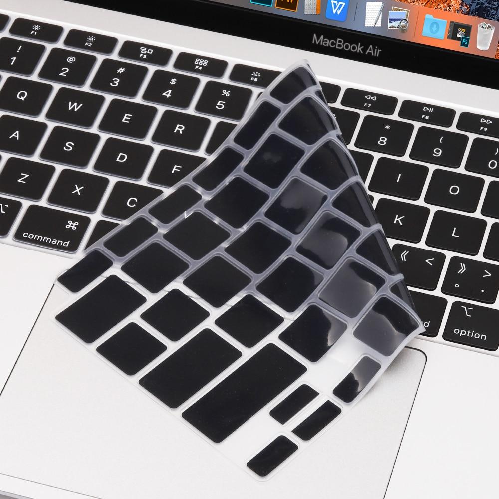 Redlai para MacBook Air 13 pulgadas 2020 A2179 cubierta de teclado de silicona transparente Protector de la piel del teclado para 2020 Mac 13 pulgadas Air