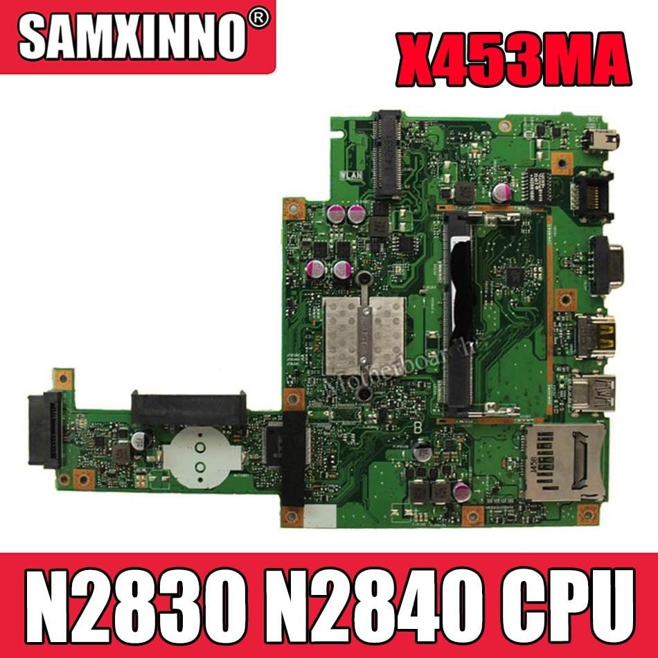 Akemy ل For Asus X453MA X403M F453M اللوحة المحمول X453MA N2830 N2840 CPU اللوحة الرئيسية اختبار جيد