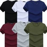 2019 6pcslot new fashion brand o neck slim short sleeve t shirt men trend casual mens t shirt korean t shirts 4xl 5xl