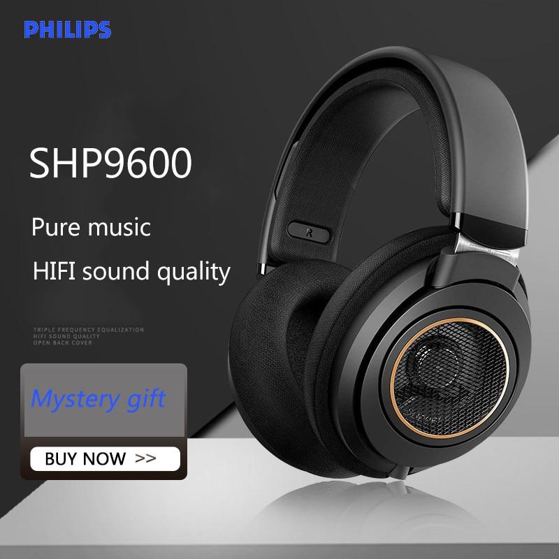 Philips SHP9600, auricular con cable de música con 3m de largo, auriculares de alta fidelidad para juegos, actualización SHP9500 para ordenador, Android, Huawei, Samsung