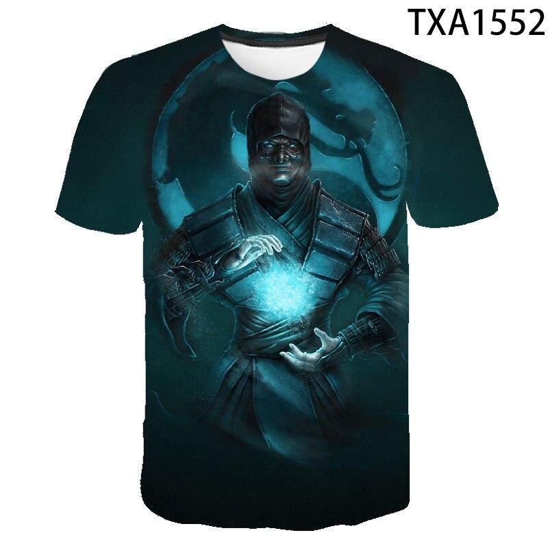 2021 nuevo verano Mortal Kombat 3D camiseta para hombres y mujeres moda...