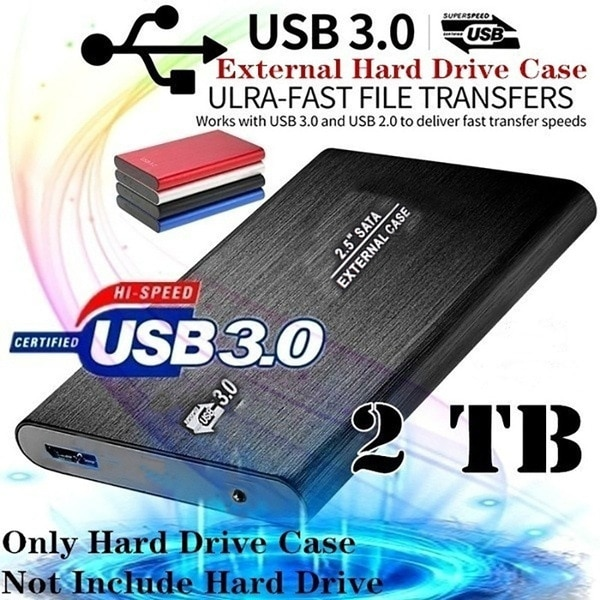 2TB Ultra Slim Portable External Hard Drive USB3.0 HDD Storage Compatible for PC, Desktop, Laptop, Xbox One, Xbox one, PS4