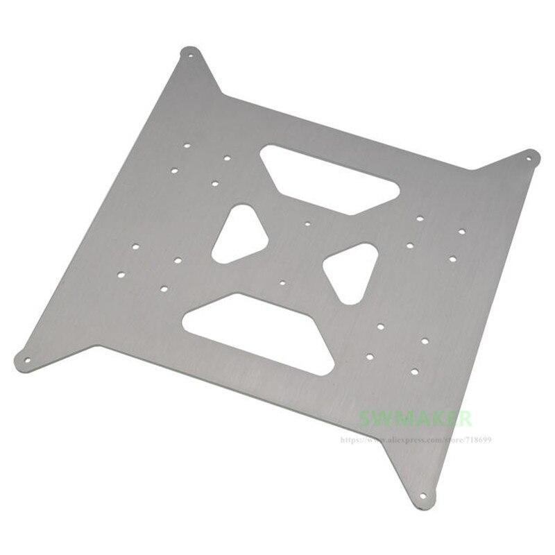 Алюминиевая Y каретная пластина обновление для Flsun I3 plus 3D принтеров толщиной 3 мм Бесплатная доставка