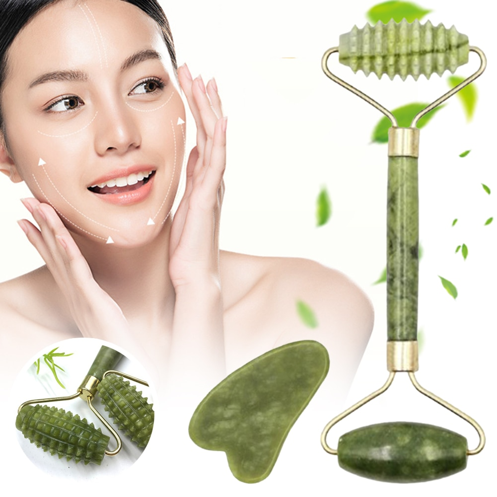 Natural Massager For Face Gouache Scraper Jade Roller Guasha Microniddle Slimming