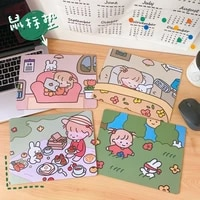 cartoon girl mouse pad anti student notebook pad keyboard cute protection pad office desktop non slip waterproof mouse pad