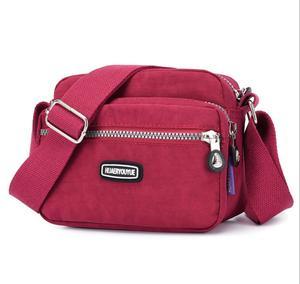 wallet brand Elegant  fashionable Women Small Messenger Bag shoulder bag waterproof nylon bag lady fan casual bag Designer bag