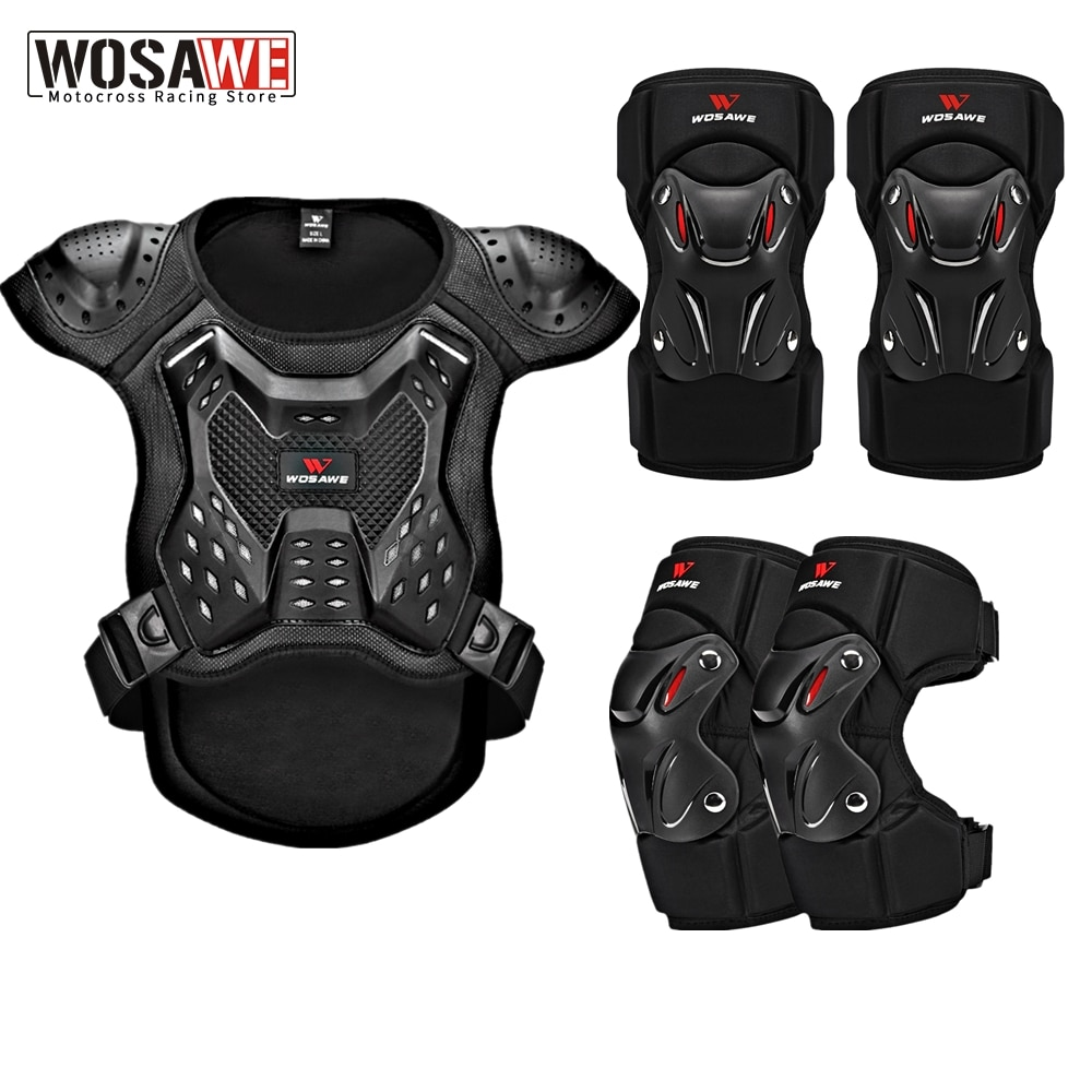 WOSAWE Adult Motorcycle Body Armor Motocross Chest Back Protector Vest Snowboard Ski Jacket Racing Protective Body Guards Armor enlarge