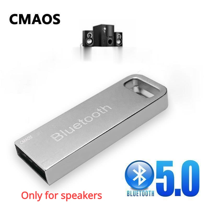 CMAOS New metal USB Wireless auxiliary Bluetooth 5.0receiverr audio adapter transmitte for MP3 playe
