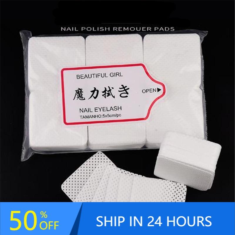 300pcs Lint-Free Nail Polish Remover Cotton Nail Wipes UV Gel Tips Remover Cleaner Paper Pad Nail Ar