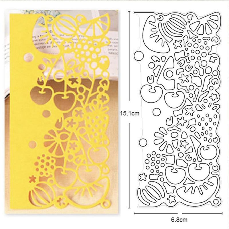 Os dados do ofício do natal do laço da borda do fruto do corte do metal dos dados scrapbooking para o cartão de papel que faz a gravação diy cortam o estêncil