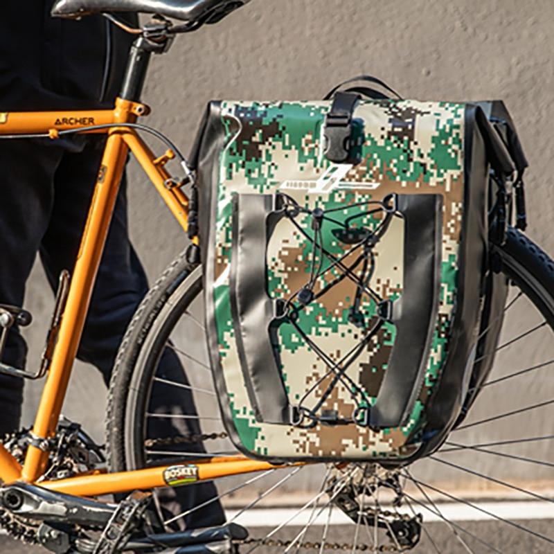 Bicicleta marco trasero bicicleta mochila Rack asiento maletero asiento trasero bolsa de almacenamiento marco frontal doble paquete funda cartuchera