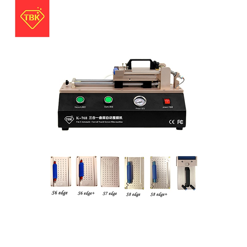 TBK-768 auto curved touch screen OCA film fitting machine for S6 S7 edge plus fitting machine for curved screen