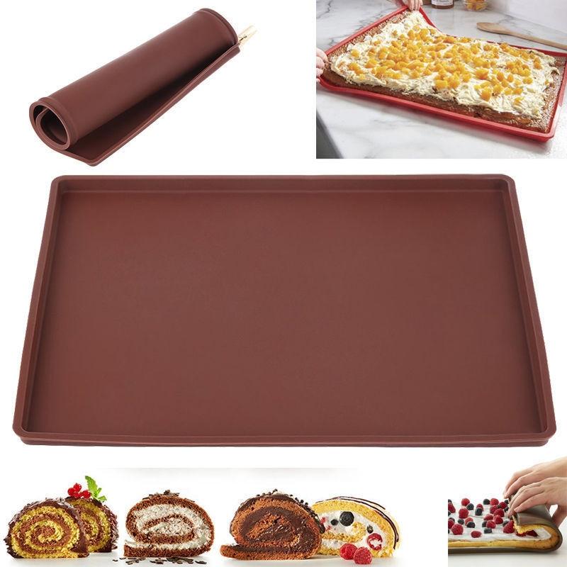Utensilios de silicona para hornear, bandeja de repostería para hornear, utensilios de cocina para horno, lámina de esterilla