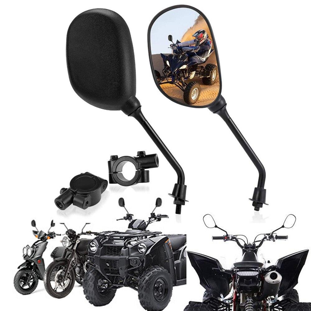 Espejo retrovisor ATV, espejos laterales de manillar de 8mm para motocicleta Scooter Polaris Sportman Honda ATV Dirt Cruiser Chopper Can Am