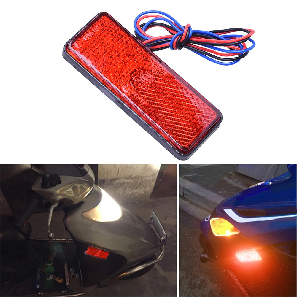 3 colores rectángulo motocicleta Reflector freno trasero Luz de señal de giro 24LED coche/ATV LED reflectores/lado de camión las luces de advertencia