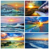 BRICOLAGE peinture numerique photo bleu ciel nuage blanc paysage peinture a lhuile peinte a la main cadeau toile peinture numerique et de deco maison