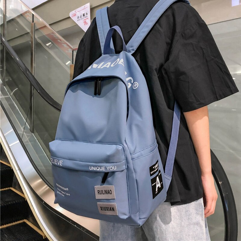 Mochila escolar feminina e masculina, bolsa para livros e escolar para adolescentes, meninos e meninas, 2020