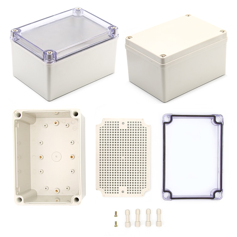 صندوق تقاطع بلاستيكي مقاوم للماء IP67 ، صندوق أدوات مشروع إلكتروني ، صندوق تقاطع خارجي مع لوحة تثبيت ، 175*125*100 مللي متر