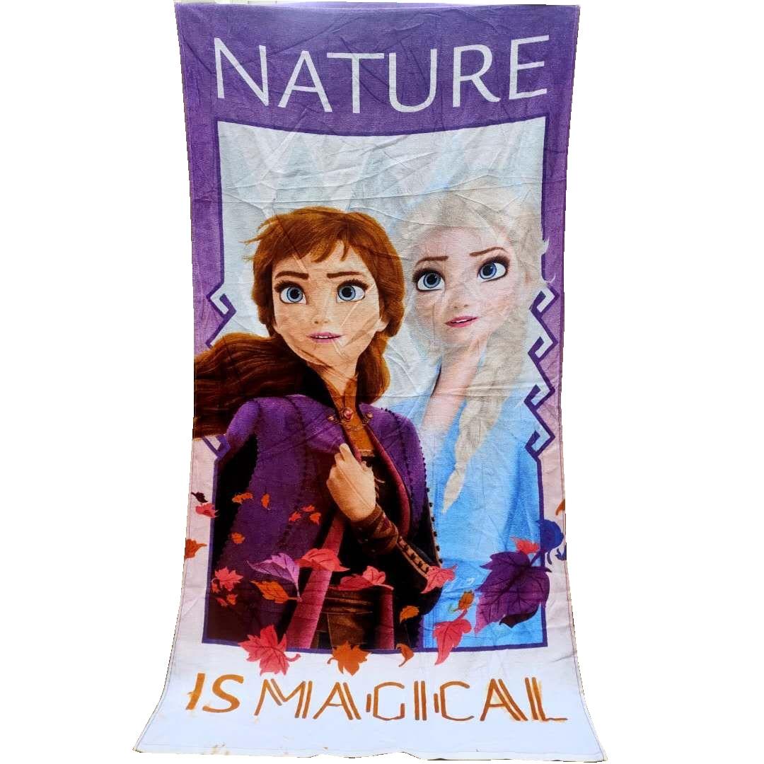 Toalla de baño/Piscina/playa para mujeres y adultos, de algodón, de 75x 150cm, con diseño de sirena rosa de Disney, Ariel, princesa congelada, 100%