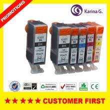 Compatible for Canon PGI125 CLI126 PGI-125 CLI-126 ink cartridge Suit for Canon PIXMA IP4810/IP4910/IX6510/MG6110/MG6210  etc.
