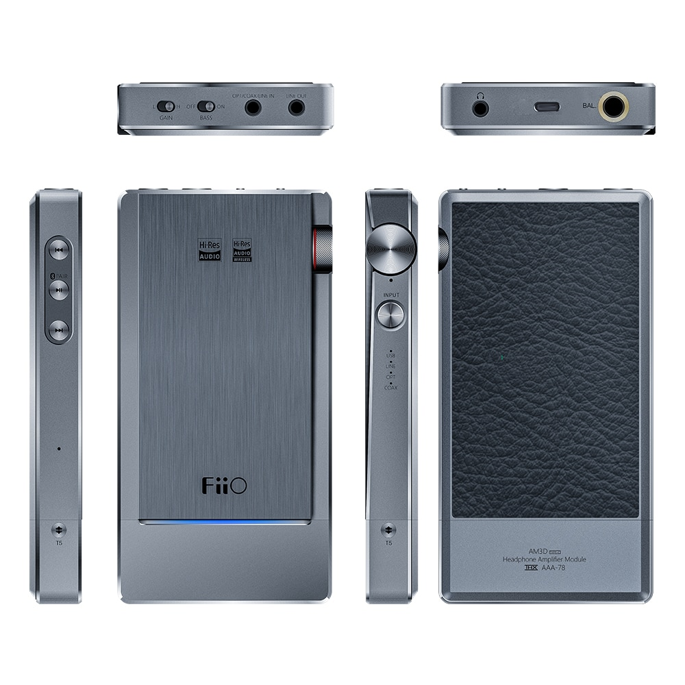 FiiO Q5s with AM3D TypeC Bluetooth 5.0 AK4493EQ DSD-Capable DAC&Amplifier for Moboile/PC
