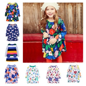 Cotton Dresses, Striped Baby Clothes, Applique, Dresses for Girls,Flowers, Spring and Autumn, Princess,Casual,pastel Clothes