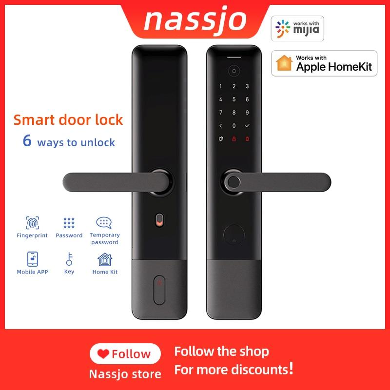 Nassjo Smart Fingerprint Door Lock For Xiaomi Mijia Mihome APP Bluetooth Unlock Security Intelligent Electronic Digital Lock