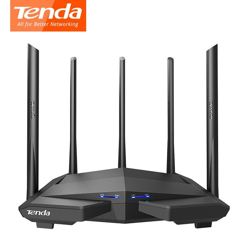 Tenda AC11/AC6/AC7/AC10 Wireless Wifi Router Gigabit Dual-Band AC1200 Repeater with 5*6dBi High Gain Antennas Wider Coverage