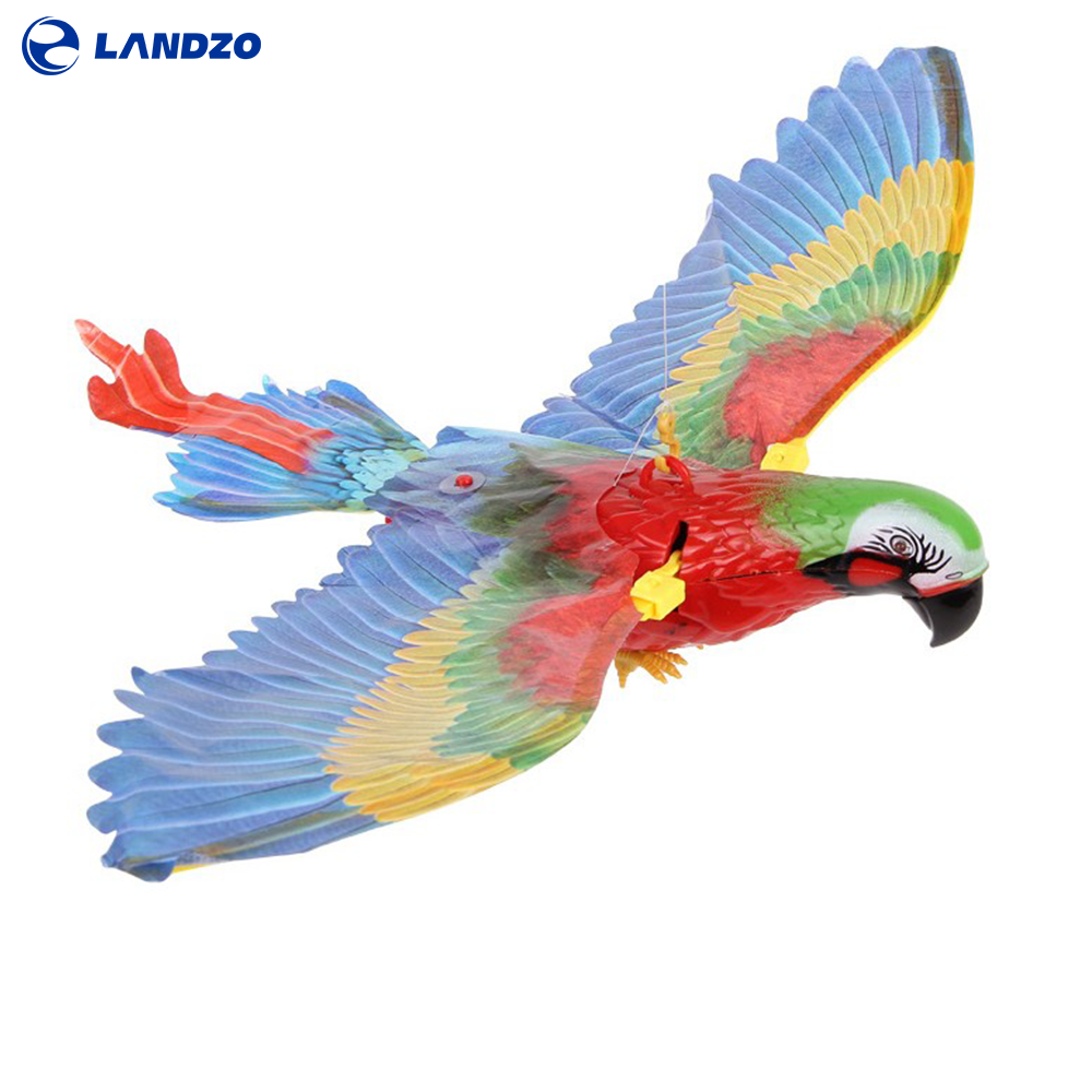 Landzo Electric Hanging Parrot Toys for Baby Juguetes Para Ninos Hanging Line Parrot Hovering Music Fash Parrot RC Brinquedos