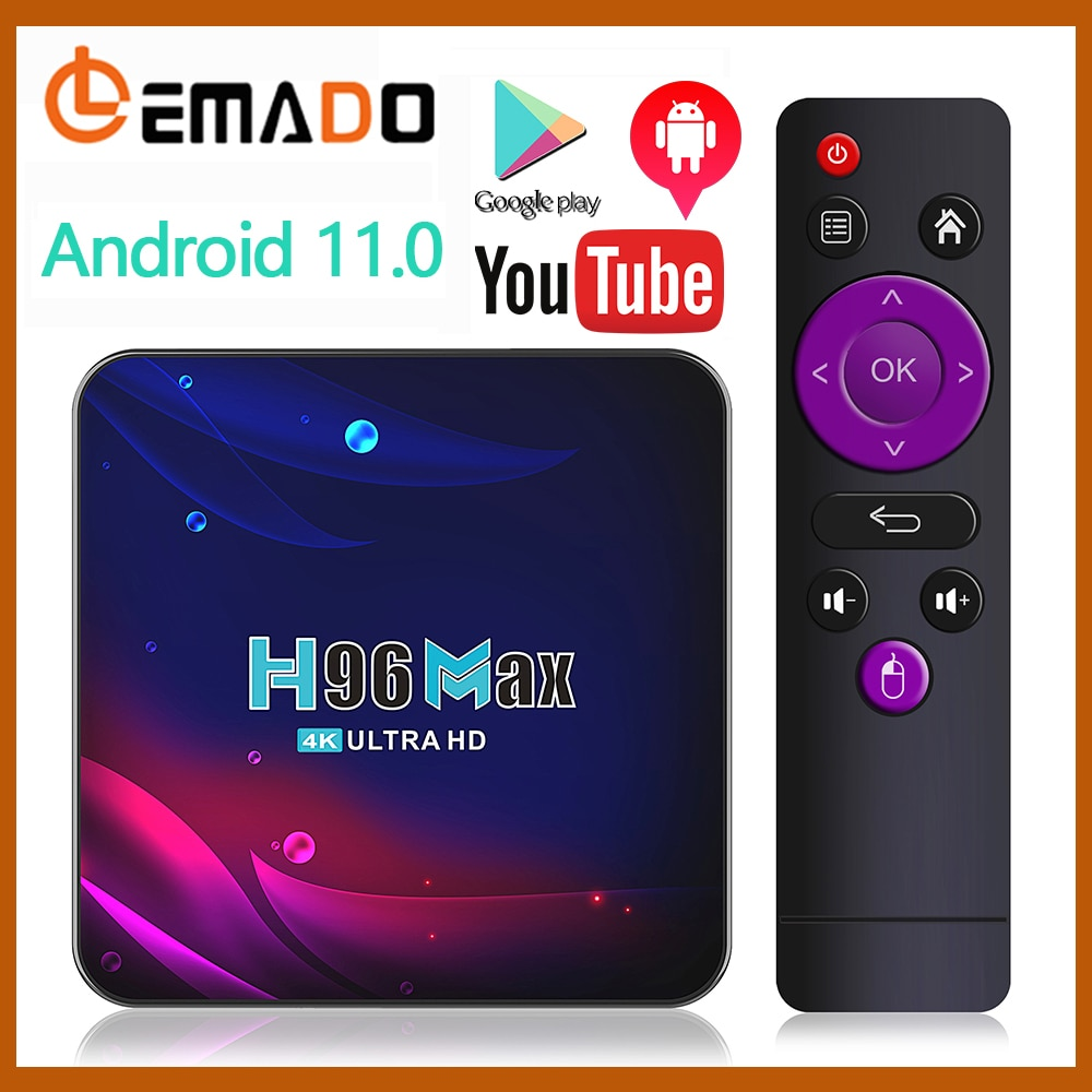 H96 Smart TV Box Android 11 4K Hd Youtube Google Play 5G Wifi Bluetooth Receiver Media Player HDR USB 3.0 4G 32Gb 64Gb Tv Box