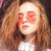 2021 New Women Men Round Sunglasses Steampunk Shades MultiColor Ocean Mirror Lens Goggles Designer V