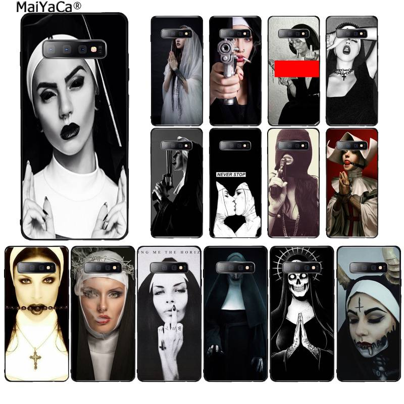 MaiYaCa Sister nun Novelty Phone Case Cover for Samsung S10 E S9 plus S6 edge plus S7edge S8plus S10 plus S5