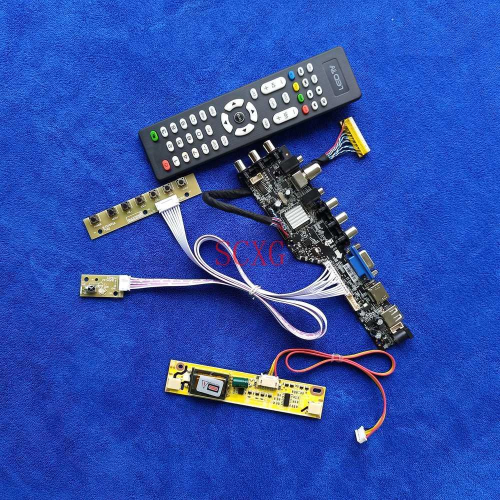 2CCFL إشارة الرقمية DVB شاشات كريستال بلورية محرك المجلس عدة ل B154EW03/B154EW07/M154EW01 VGA USB HDMI-متوافق 1280*800 30 دبوس LVDS