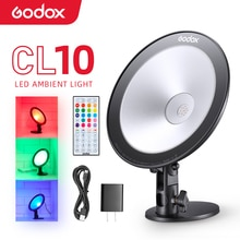 GODOX CL10 фотографии светильник светодиодный сетевого вещания окружающей среды светильник, Selfie кольцевой светильник с регулируемой яркостью, Камера лампа для макияжа мобильного телефона в реальном времени Studio
