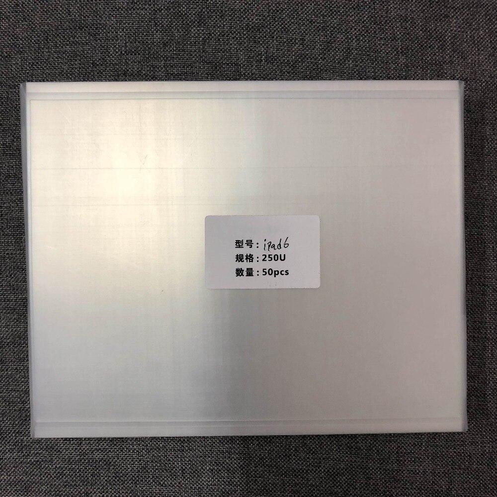 250um OCA óptica adhesivo transparente para ip 5/aire A1822/A1823 6/aire 2 A1893/A1954 LCD panel frontal de vidrio OCA película de laminación de reparación