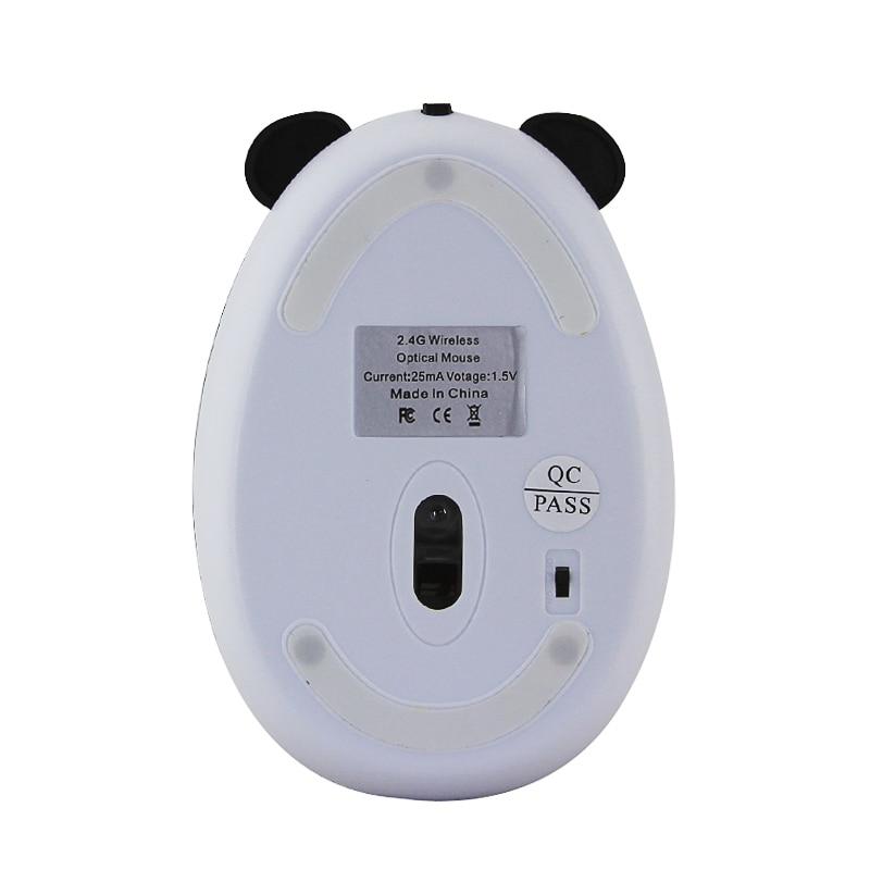 2.4G Wireless Cute Mouse Panda Cartoon Designed Mini Rechargeable Mause 1600DPI 3D Ergonomic Mice Kid Gift For PC Desktop Laptop enlarge