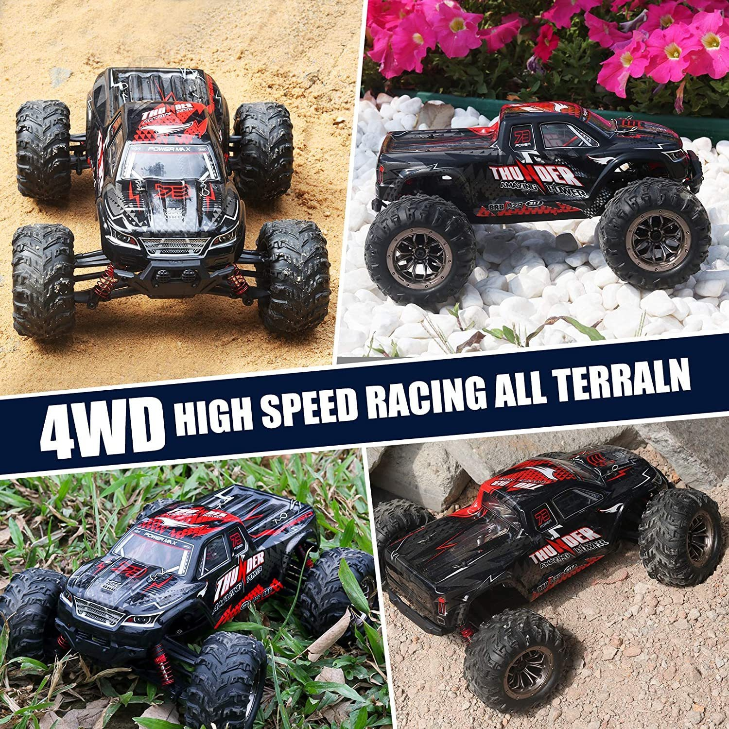 RC Car 40KM/H High Speed Racing Remote Control Car Truck for Adults 4WD Off Road Monster Trucks Climbing Vehicle Christmas Gift enlarge