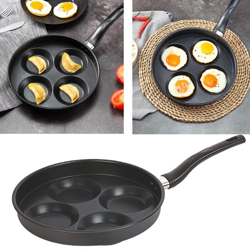 الإبداعية متعددة الوظائف مقلاة 4 قالب حفرة ، غير عصا وعاء المطبخ الطبخ