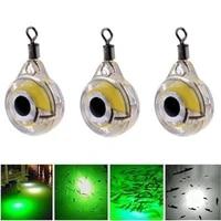 3pcs mini fishing lure light led deep drop underwater eye shape fishing squid fishing bait luminous lure for attracting fish