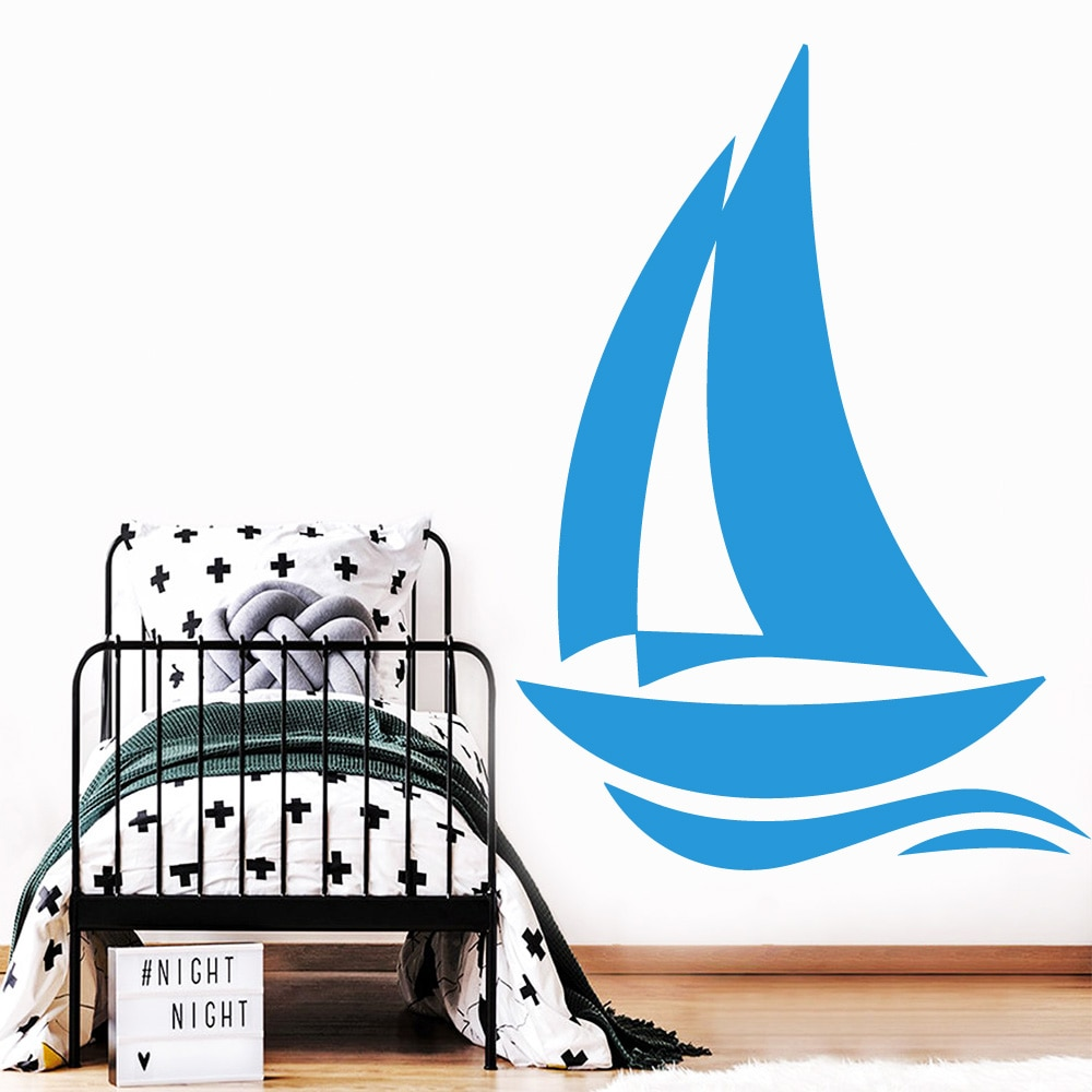 Envío Gratis pegatinas de pared de barco papel pintado creativo personalizado para...