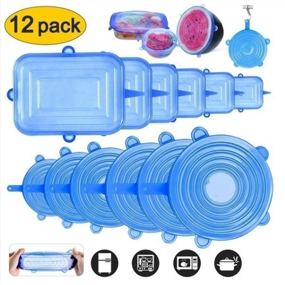 Tapas elásticas de silicona tapa Universal de silicona para alimentos tapa de olla de silicona accesorios de cocina